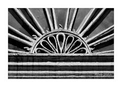 Fanlight (PeteZab) Tags: window ornate bromleyhouselibrary nottingham uk blackandwhite mono bw peterzabulis fanlight fan abstract pattern texture