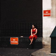 P ≠ N P (Panda1339) Tags: shadow london ldn noparking kodachrome streetphotography highcontrast red 35mm uk light