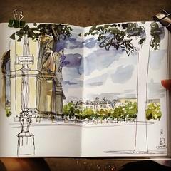 Weekend sketch of the Arc of Triumph, Paris (velt.mathieu) Tags: paris sketch croquis drawing art watercolor urbansketchers summer