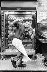 La danse du poulet (regardsparisiens) Tags: 2018 24x36 3x2 afternoon analogphotography analogique aprèsmidi argentique berggerpancro400 blackandwhitefilm bw darkisbetter filmforever filmnoiretblanc filmisnotdead filmspirit filmisastateofmind fujiphotofilmco hommes ishootfilm laurentdufour lovesnoir ltd monochrome noiretblanc noirshots portrait printemps ruemouffetard sp3000 spring travail