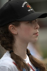 Young Lady (Scott 97006) Tags: girl kid parade pretty bokeh cap braids