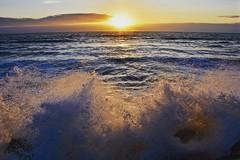 High tide (Nige H (Thanks for 20m views)) Tags: nature landscape seascape sunset sea ocean waves atlanticocean devon westwardho england