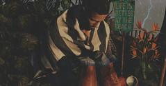 All it does is rain rain rain  down on me.... (Markthedark SL) Tags: sl secondlife avatar beach rain raining storm virtual homme man second life dark outdoor catwa mesh signature waldorf tattoo towel lightning backdropcity tonktastic