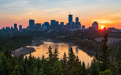Summer Dayz [Explored] (WherezJeff) Tags: alberta canada edm edmonton forest summer sunset yeg cityscape river skyline trees d850 smoke haze beach