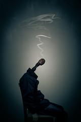 Self Portrait (Restless Nights) (felipemorin) Tags: surreal surrealism surrealist photomanipulation photoshop creative conceptual concept dream dreamscape art fineart selfportrait portrait shadows smoke