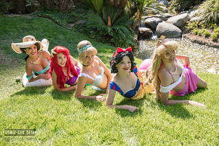 Comic-Con 2018 Disney Princesses Sunbathing by Royal Entertainers