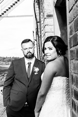 Just married (bobf62) Tags: bobfogerty nikon blackwhite monochrome couple wedding woodhorn colliery d600