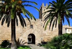 Gateway (petrk747) Tags: alcudia balearicislands mallorca spain oldtown walls town tower history gateway palm sky heaven outdoor
