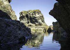 Low Tide Rock Pool - 20180725-  105301 (S26 Photography) Tags: cornwalljuly rocks rockpool lowtide porth porthbeach whipsiderry seaside sea
