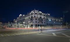 RUS68697 - Summer Night City #3. Selfie on Road (rusTsky) Tags: winner city moscow night lights street architecture longexposure sight canon eos5d urban skyline people