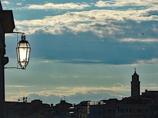 Evening falls over Venice