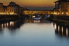 Ponte Vecchio (Florence) (Janky59) Tags: tramonto sunset river fiume arno bridge pontevecchio florence firenze nikon d3200