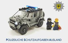 """""""Wir sind Sicherheit - Wir sind die Bundespolizei"""" (molegode_official) Tags: lego police polizei moc g klasse class wagon bundespolizei psa polizeiliche schutzaufgaben ausland"""