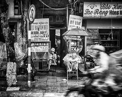 City Life (Hanoi, Vietnam. Gustavo Thomas © 2018) (Gustavo Thomas) Tags: streetphotography street city urban people life motorcycle blackandwhite monochrome mono monoart bnw hanoi vietnam asia shop simplethings travel voyager
