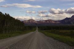 The open road (charhedman) Tags: headingtowaterton alberta 2018flickrcation theopenroad itseemstogoonandonforever rockymountains light clouds trees gravelroad alwayssomethingtostopandshoot