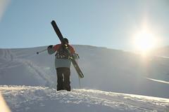 The Walk Back (Matthew/Bond) Tags: skiing hike backcountry off piste nz new zealand south island sun powder treble cone