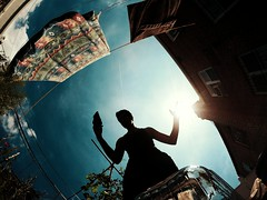 Trying To Touch The Sun (Brian D' Rozario) Tags: brian19869 briandrozario goprohero5black sun bluesky fireball sunny nyc queens silhouette actioncam feelings urge innerpeace friday star beahero feelingthemoment outdoor sunshine bright
