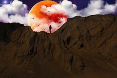 Blood Moon (Nostalgicidio) Tags: moon red bloodmoon mars eclipse creative beautiful manipulation art illustration photomanipulation design creativity artistic picture