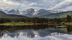 Kayaker on Sprague Lake in Rocky Mountain National Park (rachaellegrimsrud) Tags: rockymountainnationalpark 2470mmf28lii spraguelake kayak kayaking kayakingonspraguelake rockymountains trailridgeroad colorado mountains reflection estespark