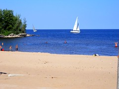 Summer Sailing! (Maenette1) Tags: sailboats beach water sky summer menominee uppermichigan flicker365 allthingsmichigan absolutemichigan projectmichigan nikoncoolpixl22camera