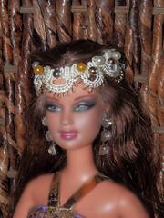 Barbie Doll-dressed as Scheherazade (marieschubert1) Tags: 1001 nights barbie doll fashion portrait costume hair face arabian story book princess queen diy design homemade make beautiful eyes posing mattel