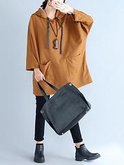 Casual Women Khaki Pockets Hooded Sweatshirts (1203875) #Banggood (SuperDeals.BG) Tags: superdeals banggood clothing apparel casual women khaki pockets hooded sweatshirts 1203875