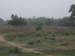 Kaleo church tower, a hazy sunset (Hanstoo) Tags: ghana landscape