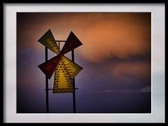 sunset windmill light (Mallybee) Tags: dcg9 g9 lumix panasonic 70300mm vivitar sunset windmill lights cleethorpes red