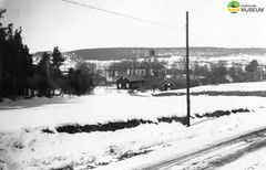 tm_4711 (Tidaholms Museum) Tags: svartvit positiv vinter snö skaraborg kyrka landskap