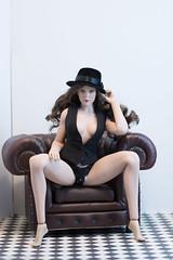 Leave Your Hat On, Part Five (edwicks_toybox) Tags: 16scale gactoys tbleague brunette fedora femaleactionfigure hat magiccube phicen poptoys seamlessbody zytoys