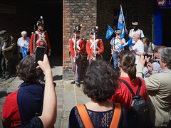 Busking, Napoleonic Style (Hector Patrick) Tags: york yorkshire leicaq flickrelite capture1pro dukeofwellingtonsregiment napoleon musket drill sunny colours colorful leica outside military camera 33rdoffoot soldiers theyorkshireregiment infantry