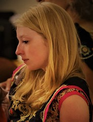 India in India (Scott RS) Tags: concert beauty blonde eyes eyelashes milky sari peace somber reflective melancholy mellow warm contemplative gorgeous sweet kind beautiful pretty hair lips fair gentle intelligent fine tender