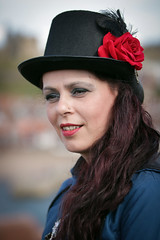 Portrait from the Whitby Steampunk Weekend IV - Days Like These (Gordon.A) Tags: yorkshire whitby steampunk whitbysteampunkweekend iv dayslikethese wsw july 2018 convivial creative costume hat culture lifestyle style fashion pretty lady woman people street festival event streetevent eventphotography day daylight sky outdoor outdoors outside dof depthoffield amateur streetphotography pose posed portrait streetportrait colour colourportrait colourstreetportrait naturallight naturallightportrait digital canon eos 750d sigma sigma50100mmf18dc