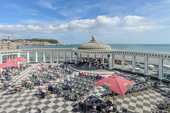 Sun Court, Scarborough Spa. (I'mDKB) Tags: 1835mm 1835mmf3545g 2018 august nikond600 northyorkshire scarborough imdkb castle harbour esplanade bandstand orchestra landscape northsea clouds spa suncourt lighthouse dome listedbuilding gradeii