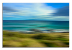Riverton Beach (heidithomson) Tags: ocean sky clouds beach water rocks coastline southland newzealand scenery outdoors lanscape sea blur landscape