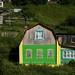 Casas de madeira coloridas