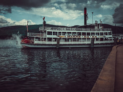 Lake George, New York (MacabreX) Tags: 2015 adirondack adirondackmountains all boat ferry ferryboat lake lakegeorge mountain newyork tonguemountainrange water
