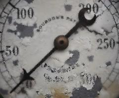 Decay. (holly hop) Tags: mm macromonday macro decay gauge pressure dial rusty rustyandcrusty peelingpaint condensation texture crusty arrow sedge808sfaves
