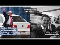 AMLO llegó en auto a recibir constancia; en 2012, Peña optó por el helicóptero (HUNI GAMING) Tags: amlo llegó en auto recibir constancia 2012 peña optó por el helicóptero