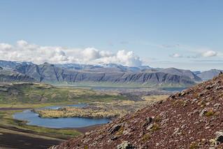 Útsýni af Rauðukúlu