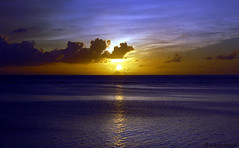 Watercolor Saipan sunset (rob surreal) Tags: ocean blue sunset sea sky yellow skyscape saipan abigfave