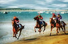 Carreras de caballos en Sanlúcar de Barrameda. Las famosas carreras en la playa - by wwwmanuelgarcia