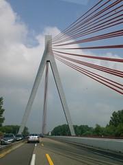 Bridge over the Rhine River (luckylisalisa) Tags: bridge germany autobahn rhineriver