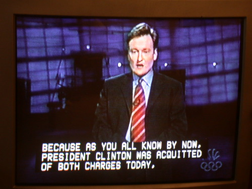 Closed Captioning Example on Conan O'Brien