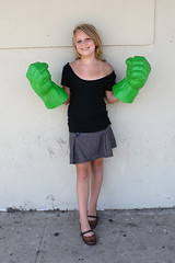 two fisted (Orrin) Tags: portrait cute green girl lenstagged hands plastic sidewalk hulkhands hulk fists canonef2470mmf28lusm 2470l thehulk theincrediblehulk moo1 tccomp299