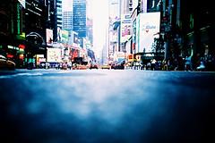 low down on time square (lomokev) Tags: road street advertising lomo lca xpro lomography crossprocessed xprocess cab taxi low ground lomolca timesquare agfa jessops100asaslidefilm agfaprecisa lomograph adverts agfaprecisa100 cruzando precisa ratseyeview jessopsslidefilm file:name=lomo0806b16