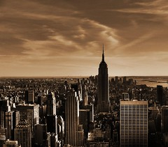 Empire State Building HDR (ajagendorf25) Tags: new york city nyc newyorkcity building rock sepia canon high dynamic state top manhattan center 101 empire empirestatebuilding rockefeller s3 range hdr highdynamicrange canons3