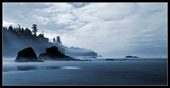 Misty Beach (sharply_done) Tags: blue panorama beach washington olympicpeninsula panoramic rubybeach kalaloch sharplydone
