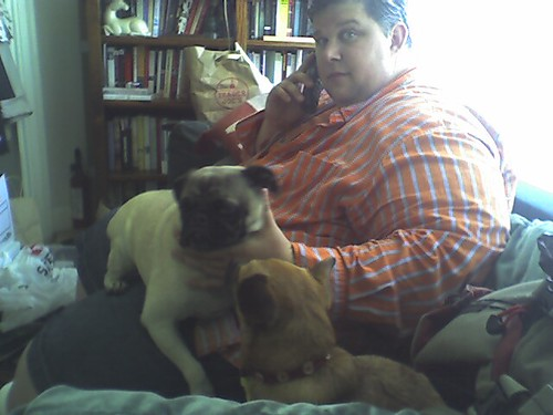 Beenie and Dexter take advantage of Michael's vulnerabilty to sneak in some snuggles.