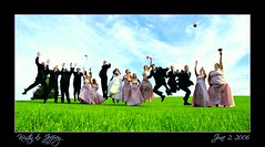 YIPEE !!! (suesue2) Tags: wedding happy groom bride michigan bridalparty mydaughter june22006 abigfave kristinjeff everybodyjump